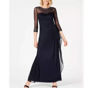 NWT Alex Evenings Embellished Chiffon Gown
